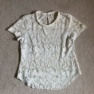 L'agence White Lace Top